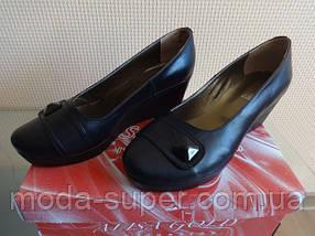 Женский туфель -натуральная кожа (черный), фото 3