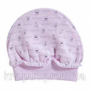 """Утепленная шапочка """"Рукавичка"""" (розовая), Garden baby, 38 см"""