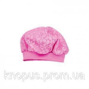 """Чепчик """"Очарование"""" (розовый),Zironka. Размеры на рост 56, 74 см"""