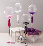 Шары воздушные прозрачные bubbles (баблс) и шары с наполнителем