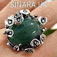 Эксклюзивное серебряное кольцо с зеленым авантюрином - Кольцо с зеленым камнем, фото 5