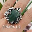 Эксклюзивное серебряное кольцо с зеленым авантюрином - Кольцо с зеленым камнем, фото 8