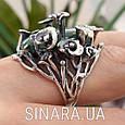 Эксклюзивное серебряное кольцо с зеленым авантюрином - Кольцо с зеленым камнем, фото 7