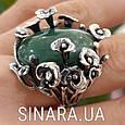 Эксклюзивное серебряное кольцо с зеленым авантюрином - Кольцо с зеленым камнем, фото 6