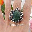 Эксклюзивное серебряное кольцо с зеленым авантюрином - Кольцо с зеленым камнем, фото 9