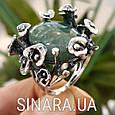 Эксклюзивное серебряное кольцо с зеленым авантюрином - Кольцо с зеленым камнем, фото 2