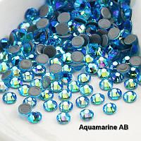 Стразы А+ премиум, Aquamarine АВ (бирюза) SS20 (5,0 мм) термоклеевые. Цена за 144 шт.