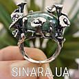 Эксклюзивное серебряное кольцо с зеленым авантюрином - Кольцо с зеленым камнем, фото 4