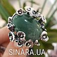 Эксклюзивное серебряное кольцо с зеленым авантюрином - Кольцо с зеленым камнем, фото 3