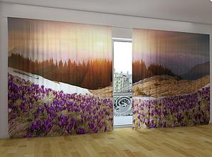 """Панорамные Фото шторы """"Поцелуй весны"""" 270 х 500 см"""