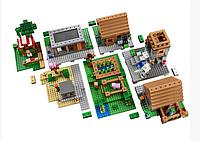 Конструктор детский 1673 деталей из серии Minecraft  Bela  10531 The Village  Деревня