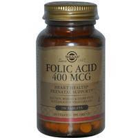 Фолиевая кислота, Solgar,  400 мкг, 250 таблеток