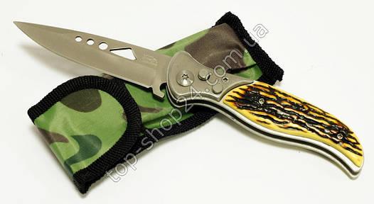 Выкидной нож 107 B с деревянной ручкой + чехол