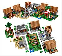 Игрушка для детей - конструктор Майнкрафт Bela  10531 The Village  Деревня