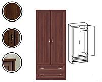 Шафа (шкаф) з ДСП/МДФ в спальню/вітальню/дитячу 2D2S (без дзеркал) горіх канадський Джоконда ВМВ Холдінг