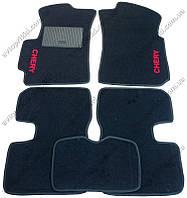 Текстильные коврики в салон Chery Kimo 2007->, 5шт. (CIAK, черный)