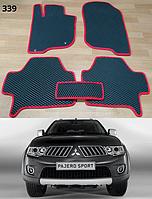 Коврики на Mitsubishi Pajero Sport '08-16. Автоковрики EVA, фото 1