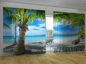 "Панорамные Фото шторы ""Выход к океану"" 270 х 500 см"