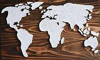 Картина String Art Карта мира Карта світу 35х55 см, 60х100 см