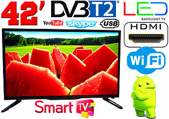 "LED телевизор 42"" FullHD,SmartTV, IPTV, Android, T2, WIFI, USB"