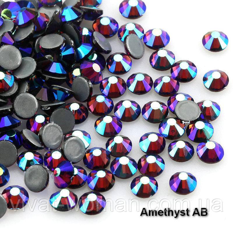 Стрази А+ Преміум, Amethyst AB, SS16 (4,0 мм) термоклеевие. Ціна за 144 шт.