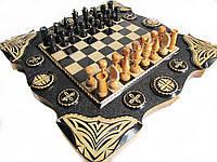 Шахматы и нарды подарочные ручной работы **Денежный Игрок**