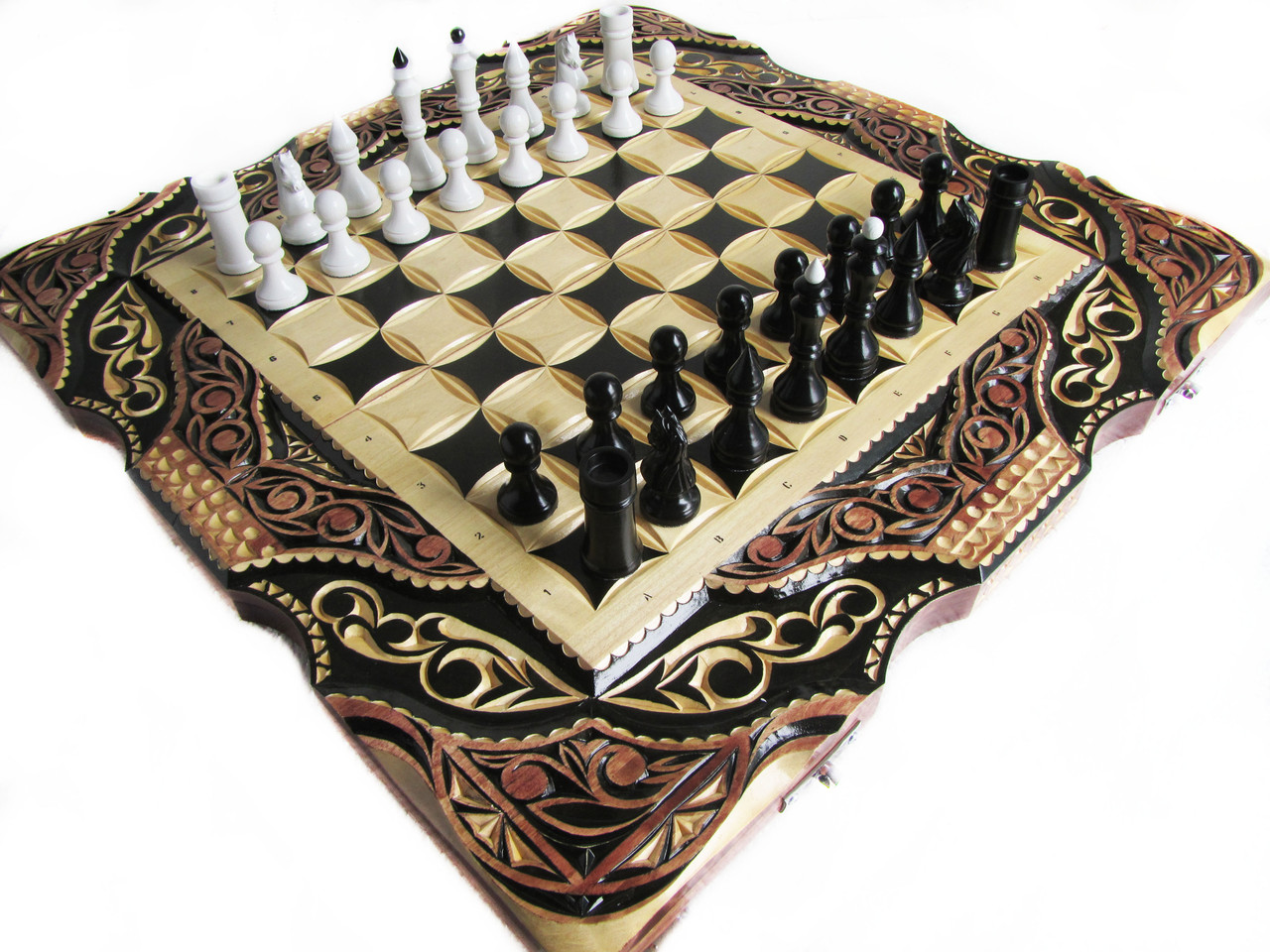 Эксклюзивные шахматы+нарды ручной работы