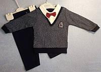 Костюм — интерлок 6-9-12 мес. Детский костюмчик С  короной на свитере
