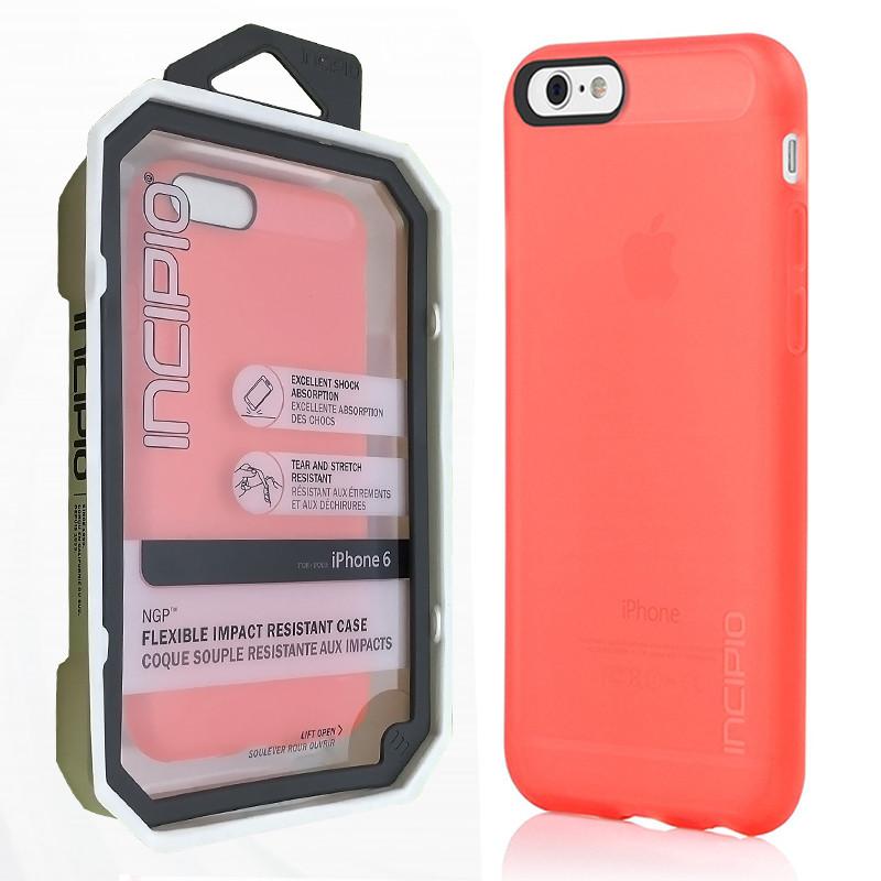 Чехол Incipio NGP Flexible Для iPhone 6/6s коралловый (IPH-1181-NEON_RED)