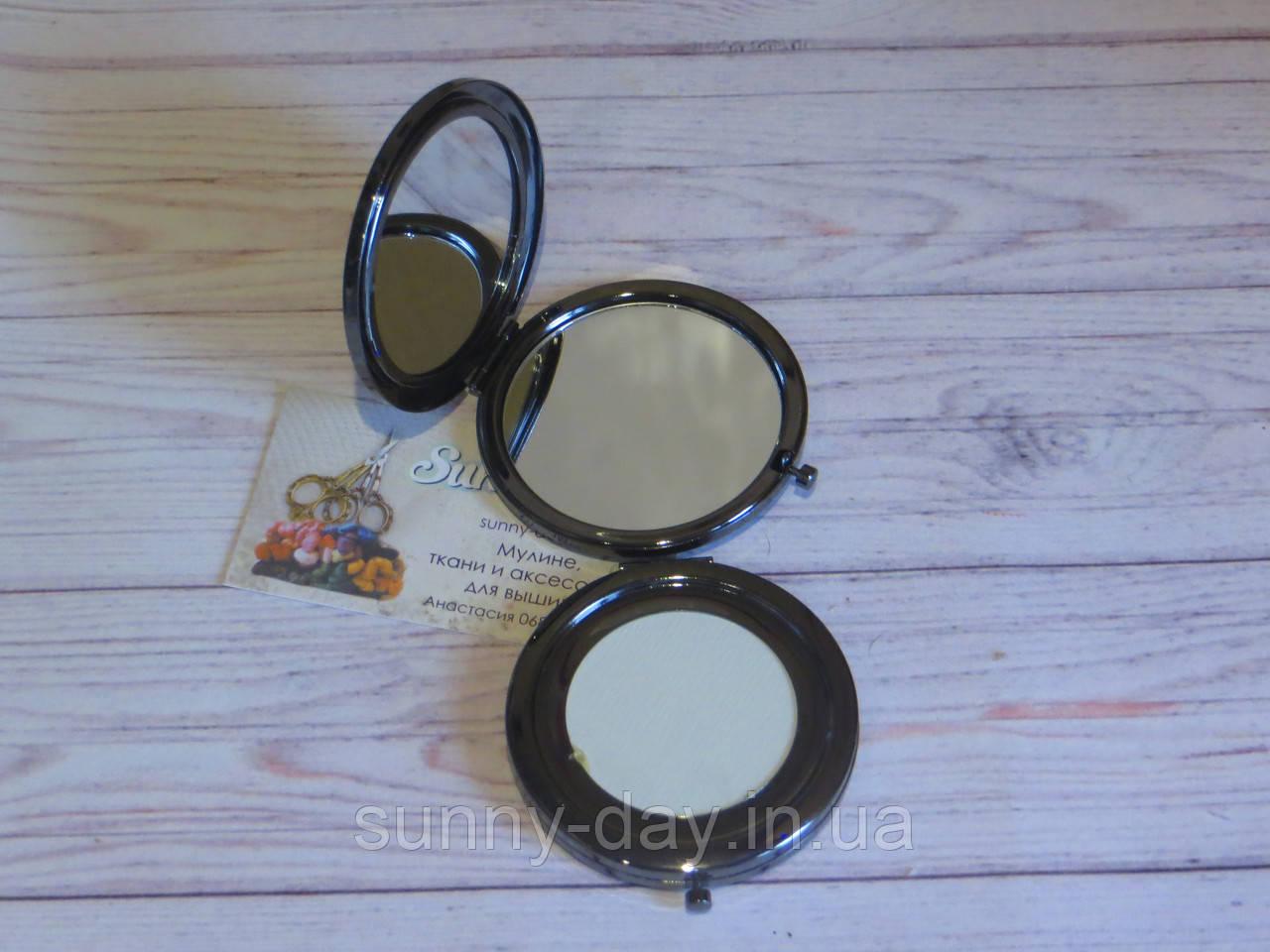 """Заготовка для оформления вышивки """"Зеркало"""", черное серебро/глянец"""