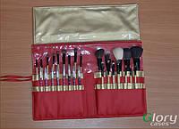 Чехол для кистей Glory Cases красный/золото 35 отделений
