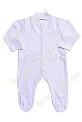 Крестильный  комбинезон для новорожденных р.56-68