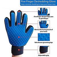 Массажная перчатка-чесалка для животных Pet Brush Glove