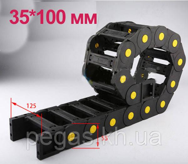 Кабелеукладчик с внутренним размером 35х100 мм