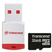 Карта памяти Transcend Micro SDHC 32Gb class 10 + Cardreader