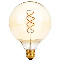 """Лампа Эдисона светодиодная G125 4W шар диммируемая """" две спирали"""""""