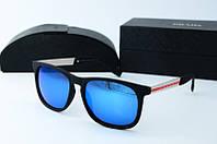 Солнцезащитные очки прямоугольные Prada голубые, фото 1