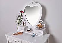 Туалетный стол Нeart 74 см с табуретом и зеркалом
