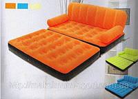 Надувной диван трансформер Bestway 67356(188x152x64 см. ) с насосом киев (Голубой)