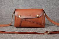 Кожаная женская сумка Kiki   Италия Орех , фото 1
