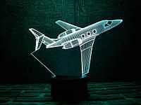 "Сменная пластина для 3D ламп ""Самолет 2"" 3DTOYSLAMP, фото 1"