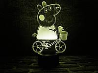 "Сменная пластина для 3D ламп ""Свинка Пэппа"" 3DTOYSLAMP, фото 1"