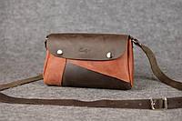 Кожаная женская сумка Kiki | Кофе-Коньяк, фото 1