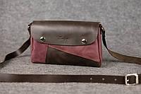 Кожаная женская сумка Kiki | Кофе-Бордо, фото 1
