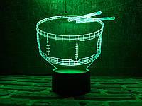 """Сменная пластина для 3D ночника """"Барабан"""" 3DTOYSLAMP, фото 1"""