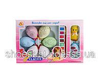 Набор для росписи яиц для творчества: 6 яиц, краски, цыпленок, фото 1