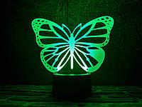 "Сменная пластина для 3D ночника ""Бабочка 2"" 3DTOYSLAMP, фото 1"