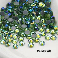 Стразы А+ Premium, Peridot AB (зеленый) SS20 (5,0 мм) термоклеевые. Цена за 144 шт., фото 1
