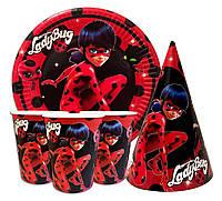 Набор детской бумажной посуды LadyBug