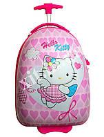 Детский дорожный чемодан на 2 колесах Hello Kitty, фото 1